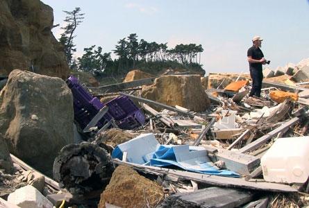 Tsunami-shoreline